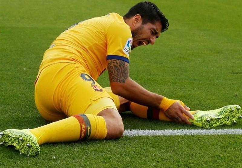 سوارس بازی بارسلونا اسلاویاپراگ را از دست داد